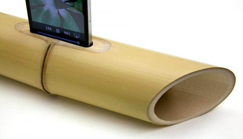 iBamboo altavoces de bambu para iPhone