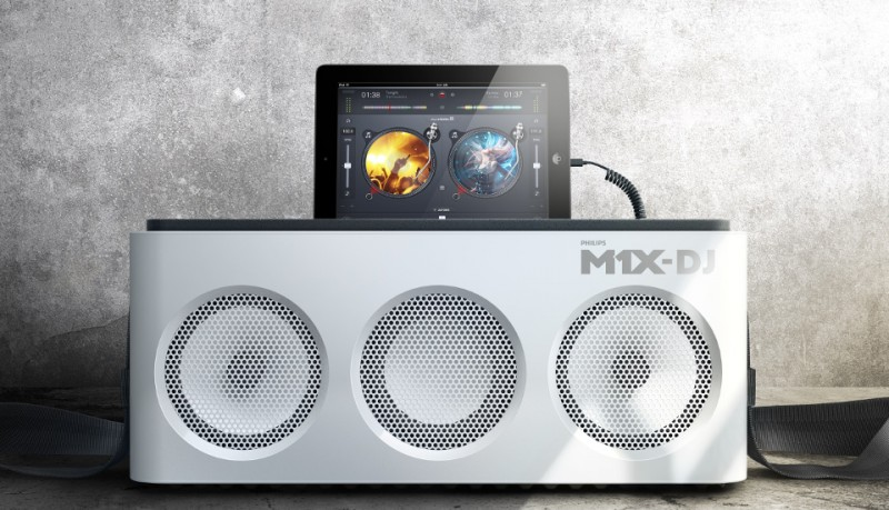 Philips M1X-DJ dock portatil de DJ para iPad o iPhone