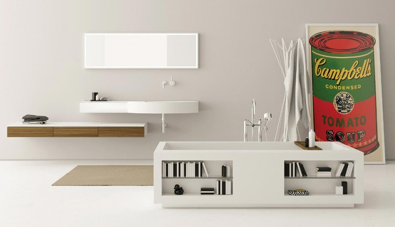 Bañera rectangular Confort Tank LED 3 de Moma Design