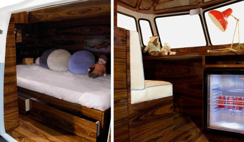 Cama dormitorio furgoneta Volkswagen