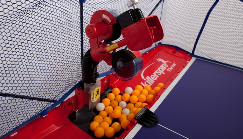 Throw II Robot máquina para entrenar pimpón