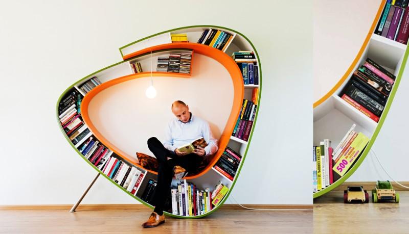 BookWorm estantería curva