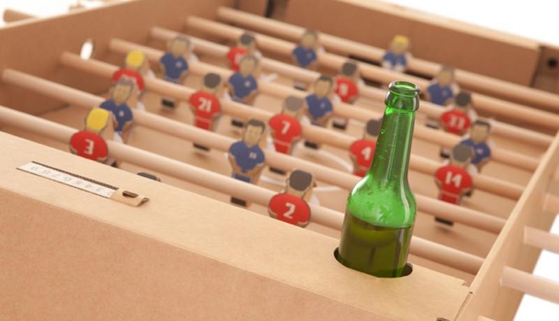 Kartoni futbolin de cartón