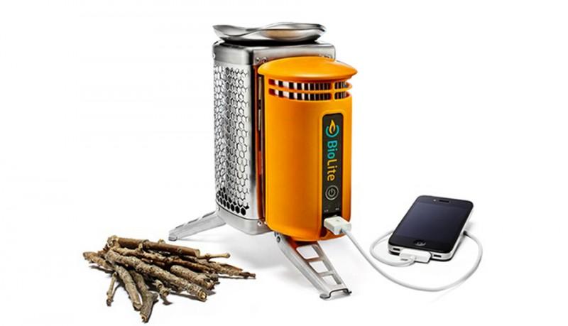 Biolite cargador de dispositivos móviles USB camping