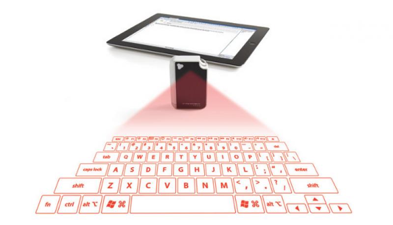 Teclado virtual proyectado