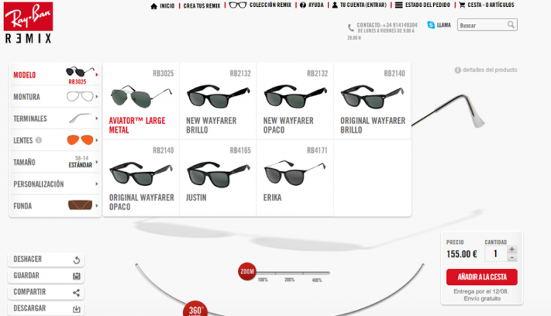 Ray Ban Remix personaliza tus gafas