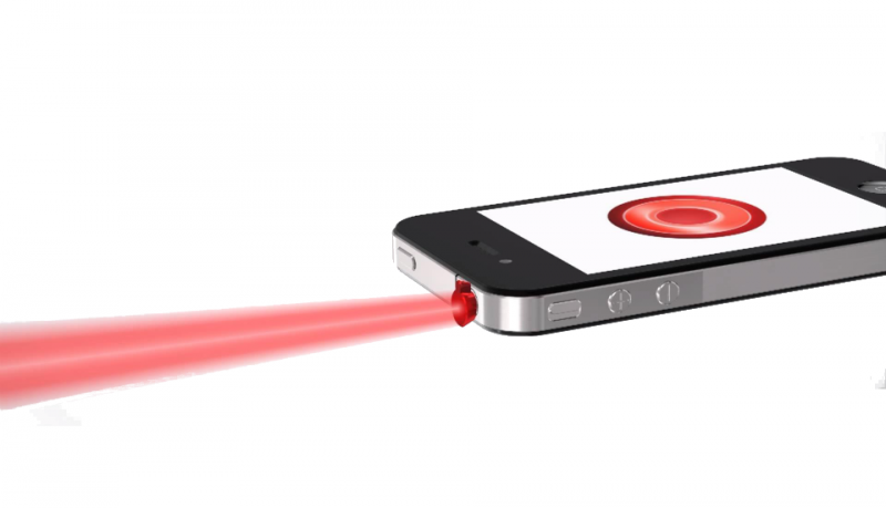 iPin laser para iPhone
