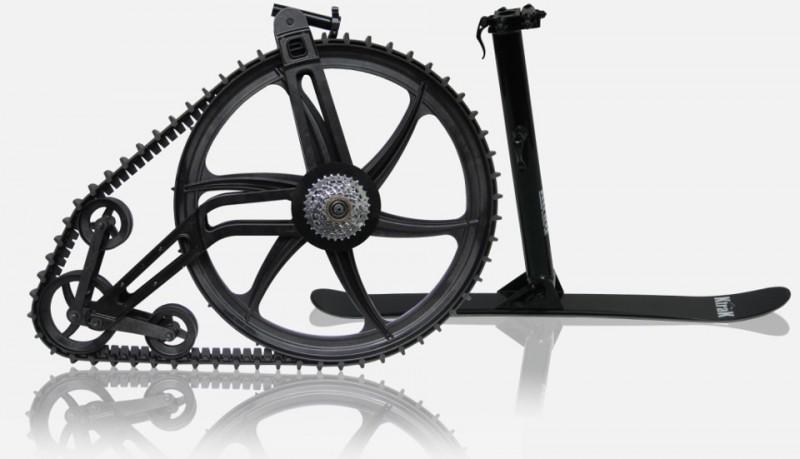 Ktrak kit para andar con la bici por la nieve