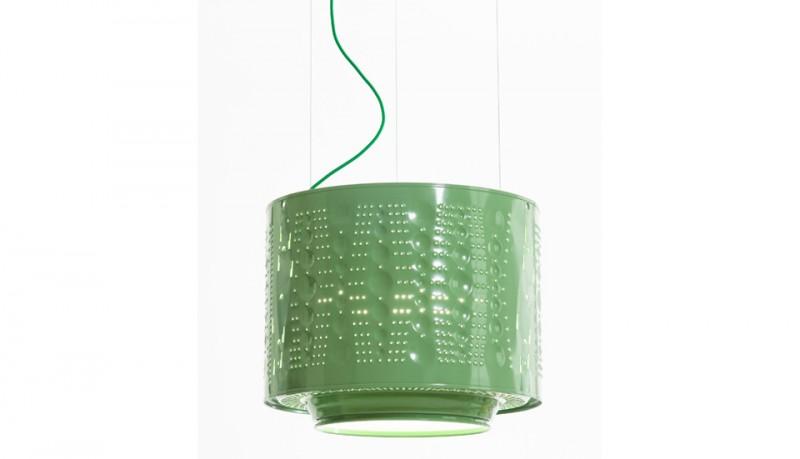 Lámpara reciclada tambor lavadora