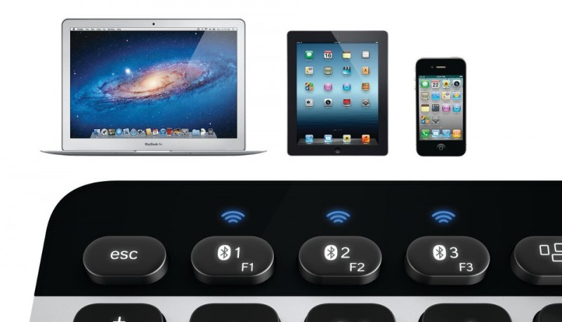 Logitech Bluetooth® Easy-Switch escribe con el mismo teclado en iPhone, iPad e iMac