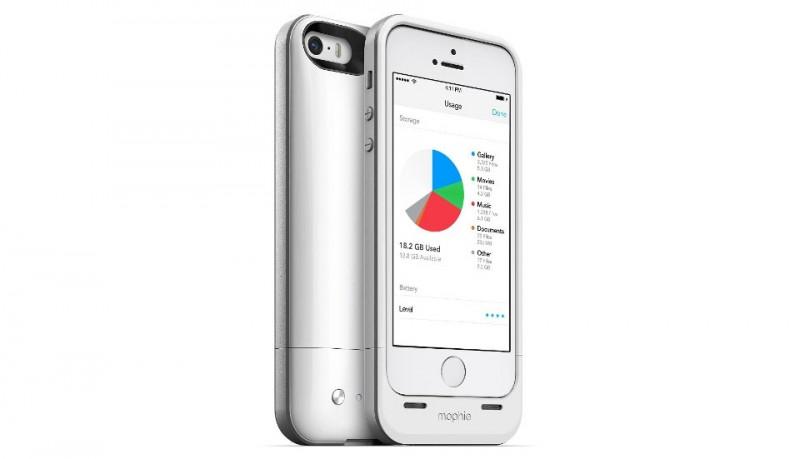 Funda con batería y memoria para iPhone 5/5s Mophie Space Pack