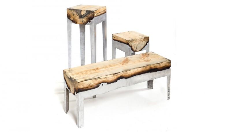 Muebles de madera y aluminio de Hilla Shamia