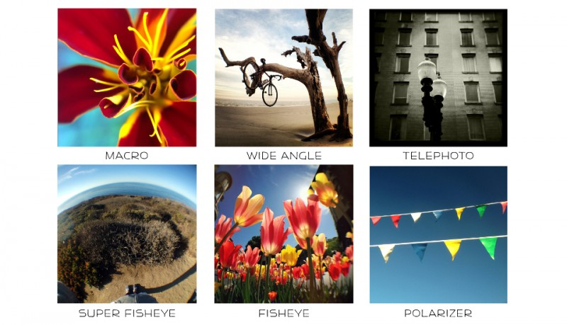 Kit objetivos universal para iPhone, iPad, iPod y android