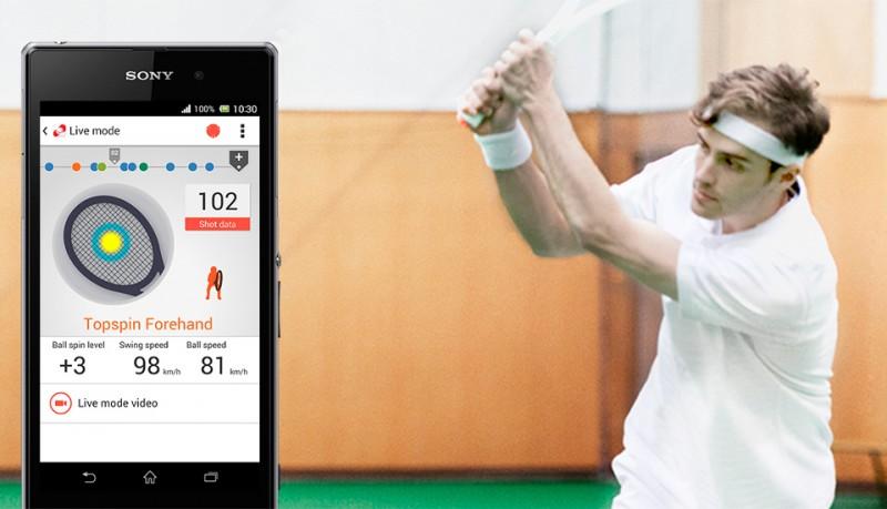 Sony Smart Tennis Sensor para mejorar tu juego de tenis