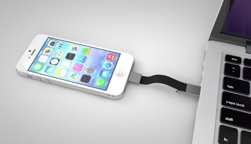 Popcord llavero cargador de móvil iPhone y micro USB