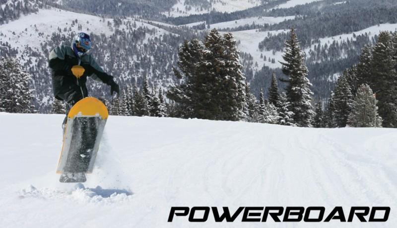 Powerboard snowboard motorizado