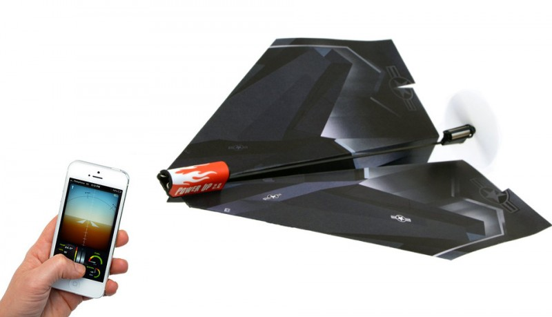 Avion de papel teledirigido para iPhone PowerUp 3.0
