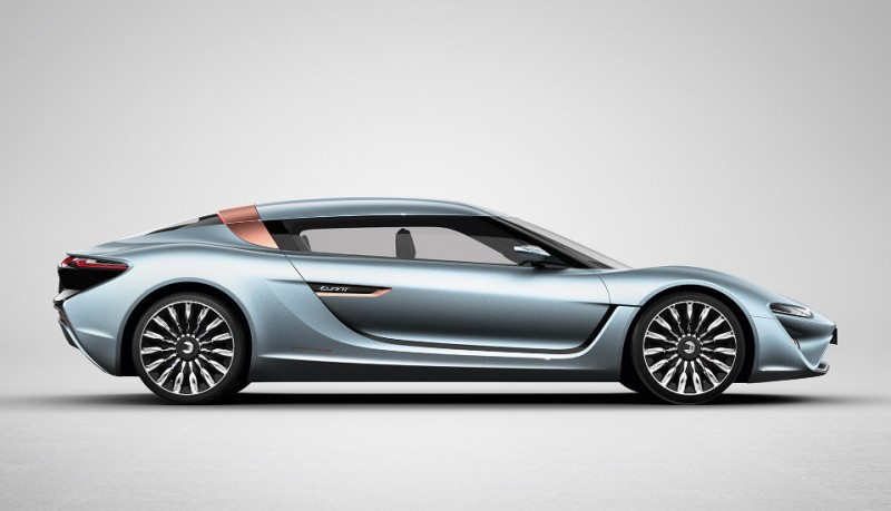 Quant E-Sportlimousine coche eléctrico basado en agua marina