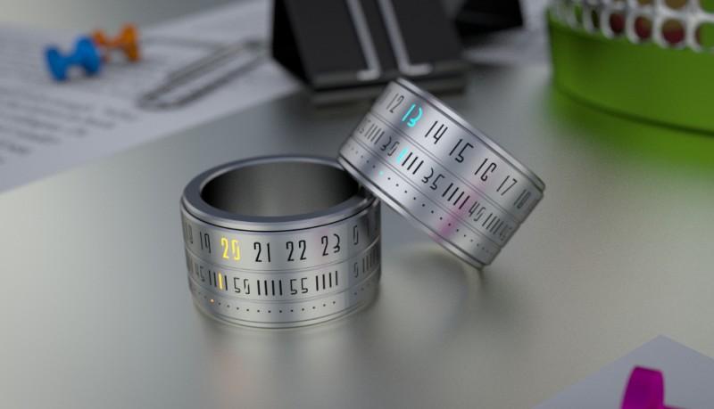 Ring clock reloj de anillo