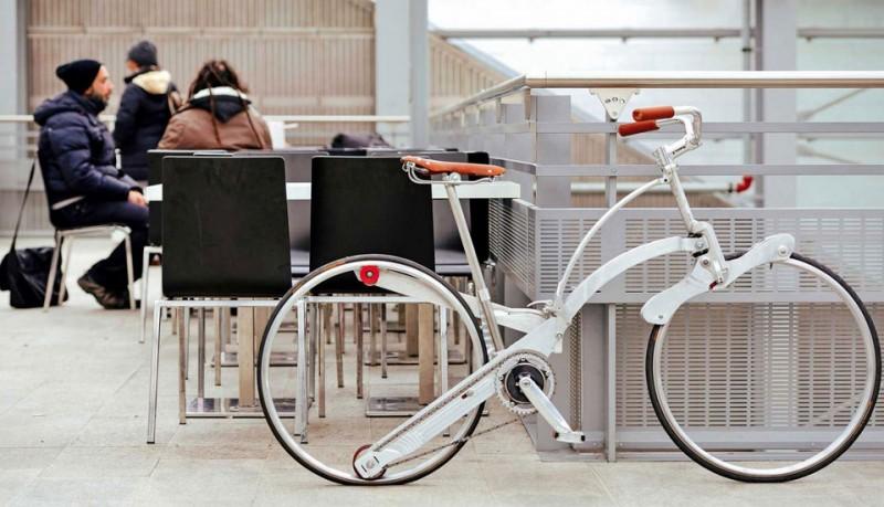 Sada la bicicleta que se pliega como un paraguas