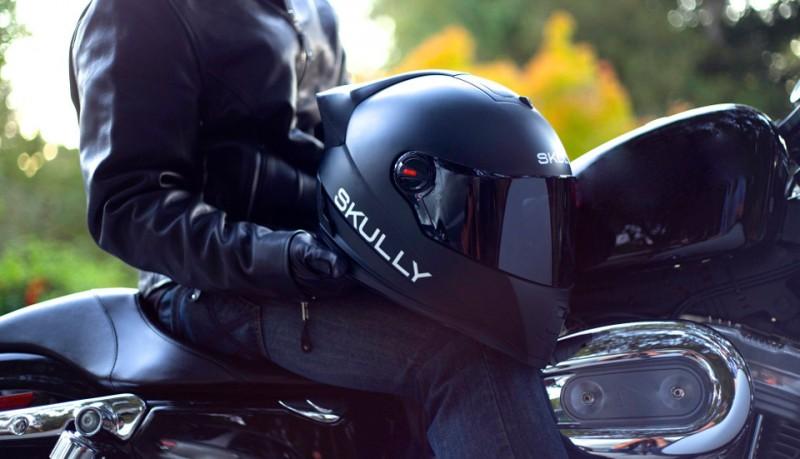 Scully P-1 casco cámara trasera y manos libres