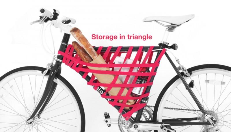 Reel sistema elástico para transportar en bicicleta