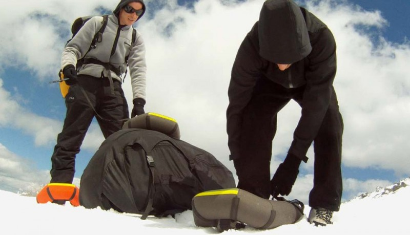 Small Foot hinchables para andar sobre la nieve