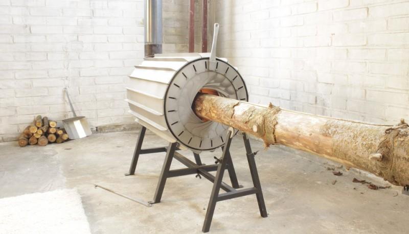 Spruce Stove chimenea que cabe un tronco