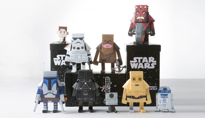 Momot Star Wars de papel