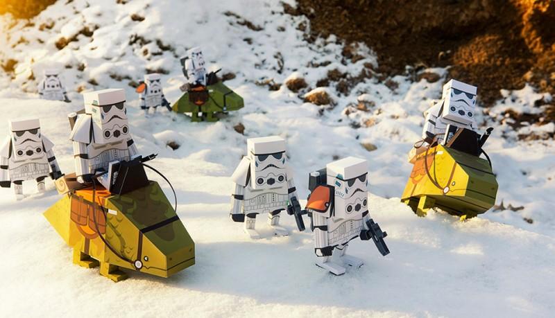 Momot Star Wars de papel