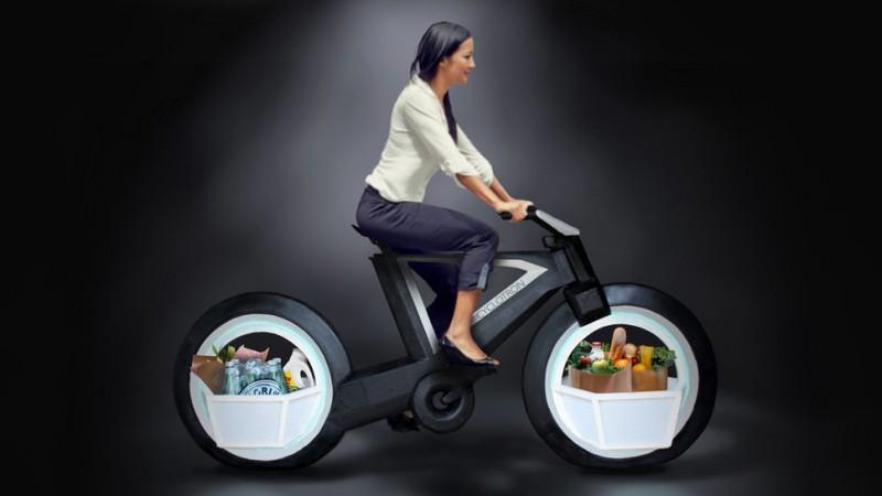 Cyclotron la bicicleta eléctrica sin radios