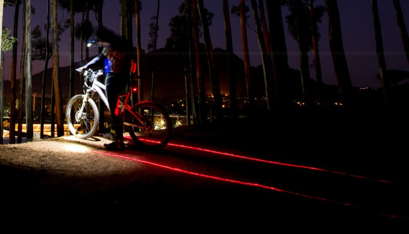 X-Fire 5 luces LED laser para bicicletas