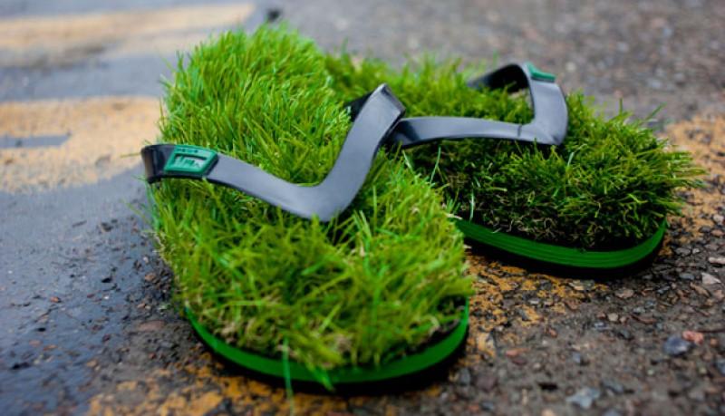 Chancletas Kusa de hierba