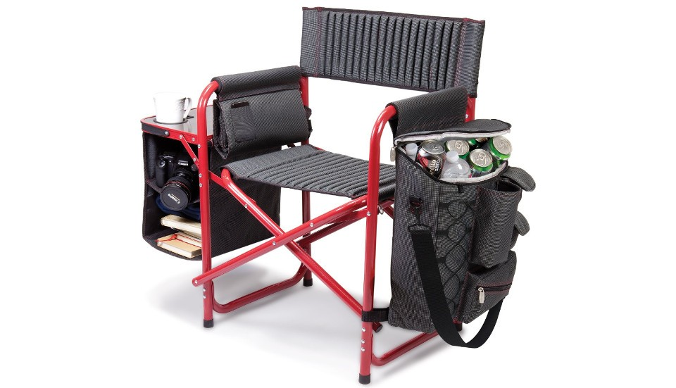 Backpack silla plegable con nevera y mesa buenespacio for Mesa plegable sillas incorporadas